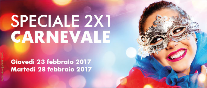 Speciale 2×1 Carnevale: viaggi in 2 con un solo biglietto